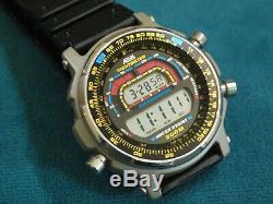 Nice Rare Vintage AEGIS by Casio Tachymeter Men's Multi Functions Watch