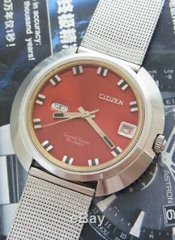 Nice & Rare Vintage Citizen Crystal Seven Ufo Case Automatic 21 Jewels Watch