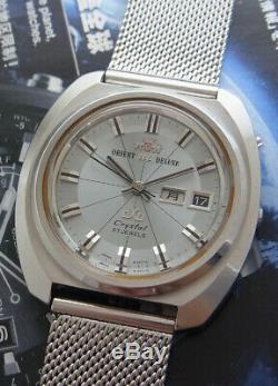 Nice & Rare Vintage Orient Aaa Deluxe Automatic 27 Jewels Japan Watch