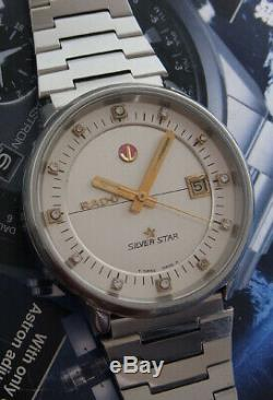 Nice & Rare Vintage Rado Silver Star Automatic Swiss Made Watch