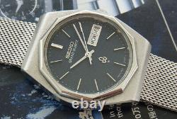 Nice & Rare Vintage Seiko Grand Quartz Day/date Model 4843-7000 Japan Made Watch