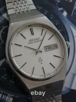 Nice & Rare Vintage Seiko King Quartz Day/date Model 4823-8130 Japan Made Watch