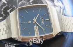 Nice & Rare Vintage Seiko King Quartz Nice Blue Dial 5856-5000 Japan Made Watch