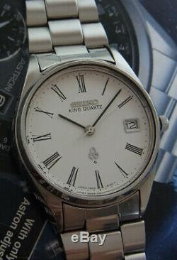 Nice & Rare Vintage Seiko King Quartz Roman Dial 4822-8110 Japan Made Watch