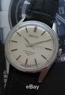Nice & Rare Vintage Seiko Lord Marvel 36000 model 5740-8000 Japan Watch