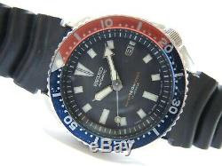 Nice Rare Vintage Seiko Pepsi 7002-700j Automatic Date Diver's Men's Watch