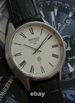 Nice & Rare Vintage Seiko Quartz Qz 0920-8000 Roman Dial Japan Made Watch