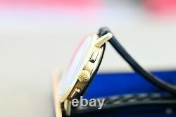 Nice Zenith Cal. 146DP 18K Solid Yellow Gold Chronograph 36mm Super RARE withBox