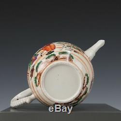 Nice rare Chinese mandarin porcelain teapot, Dutch couple, 18th ct