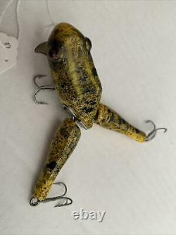 Paw Paw Wood Wotta Frog Vintage Lure Model 73 Nice Condition Rare Colors. $125