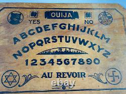 RARE 1929 Antique Simmons Au Revoir Ouija Board magic spirits NICE wood