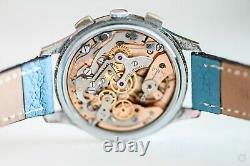 RARE 1950's Vintage Heuer Pre Carrera Cal. 248 Chronograph Watch 37mm+ Nice