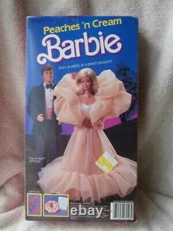 RARE 1984 NRFB Vintage PEACHES N CREAM Barbie Doll Nice