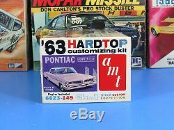 RARE AMT# 6623-149 1963 PONTIAC BONNEVILLE HARDTOP ANNUAL UNBUILT NICE 3 in 1
