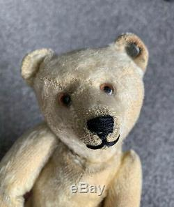 RARE ANTIQUE EARLY C1910 STEIFF MOHAIR ARTICULATED BEAR FF Button 10 NICE NR