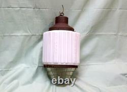RARE Antique Art Deco Skyscraper Wedding Cake Light Fixture Original bulb NICE