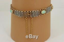 RARE Antique Victorian Edwardian 15ct Rose Gold & Platinum Opal Bracelet. NICE1