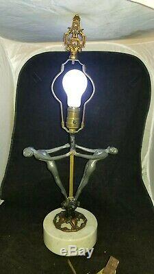RARE Art Deco Frankart Nude Ladies Lamp Base. Nice Working Condition. 2