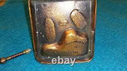 RARE ORIGINAL ANTIQUE RONSON 1913 BABE RUTH COPPER STRIKER LIGHTER Nice