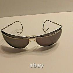 RARE VINTAGE 1960's RENAULD of FRANCE SUNGLASSES WRAP-AROUND BUBBLE WithCase NICE