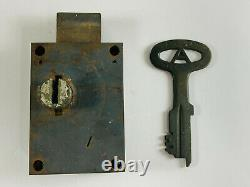 RARE Vintage Pauley Jail Cell Lock with Key St Louis MO NICE