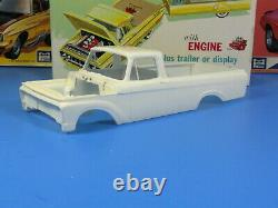 Rare Amt #k-131 200 1961 Ford F-100 Pickup With Trailer Unbuilt Complete Nice