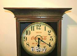 Rare Antique 1916 to 20's Coca Cola Gilbert Eight Day Adversting clock Nice