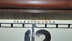 Rare Antique Coca Cola Select advertising Wood Clock Sign Nice