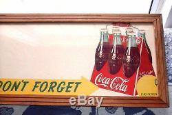 Rare Antique Original 1947 Coca Cola By Niagara Litho Co. Farme Nice