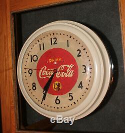 Rare Antique Original Coca Cola Drink advertising Clock Sign NICE