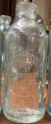 Rare! Antique kalispell montana hutch soda Bottle 0058 malting and brewing nice