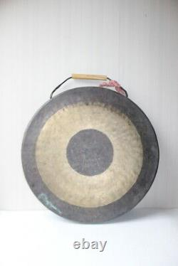 Rare Big Antique Chinese Two Colours Gong sounds Nice