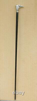 Rare Cane, Walking Stick with Hidden Corkscrew, Nice Alpaca EAGLE Handle