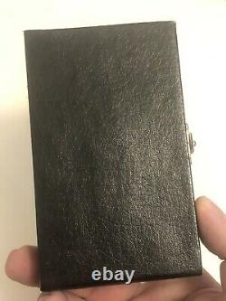 Rare Cooke & Kelvey Indian Solid Silver Card Case In Original Fitted Case Nice