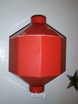 Rare D&S Copper Star Weather Vane Lightning Rod Arrow Vane With Orange Ball Nice