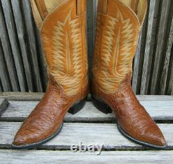 Rare Exotic Vintage Tony Lama Sea Alligator Cowboy Boots 10 D USA NICE