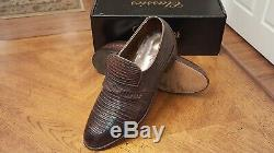 Rare Footjoy Classics Exotic Full Lizard Mens Loafers 73742 Euc Brn 10.5c Nice