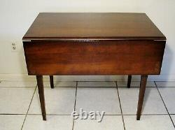 Rare Hitchcock Solid Maple Wood Stenciled Drop Leaf Dinning Kitchen Table Nice