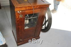 Rare Large Antique Oak Vintage c. 1900 International Time Recording ClockNice