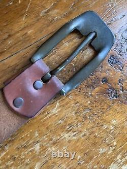 Rare Nice Antique VINTAGE JINGLE BELL SLEIGH BELLS LEATHER STRAP MOUNT Belt