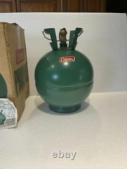 Rare Nice Coleman Large Bubble Shape Round Propane Tank 4BA240, 4-70LX