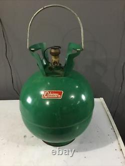 Rare Nice Coleman Large Bubble Shape Round Propane Tank 4BA240, 7-70LX, WC-255