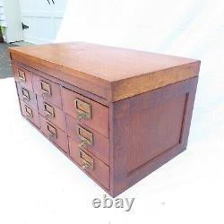 Rare Oak Globe Wernicke Letter File cabinet Table Top Library Nice