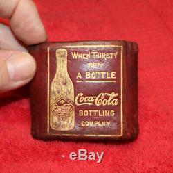 Rare Original Antique Coca Cola Coin / Change Purse Nice