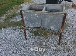 Rare Speed Queen Double Wash Tub, Planter, Home Sink, Nice Tub