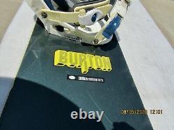 Rare Vintage Burton Snowboard 156cm Burton Medium Bindings Nice Condition