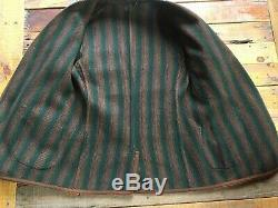 Rare Vintage Chicago Antique Worsted Wool Suit Jacket Stripe detail braided nice