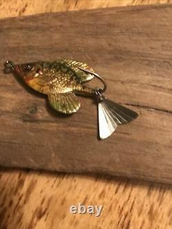 Rare Vintage Fred Arbogast's Tin-Liz Sunfish NICE