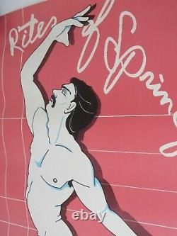 Rare Vintage Gay LGBT Poster San Francisco Falcon Dance Theatre SIGNED 1982 NICE