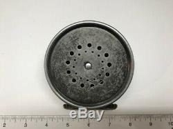 Rare Vintage HARDY The Perfect Fly Reel with Leather Case Nice